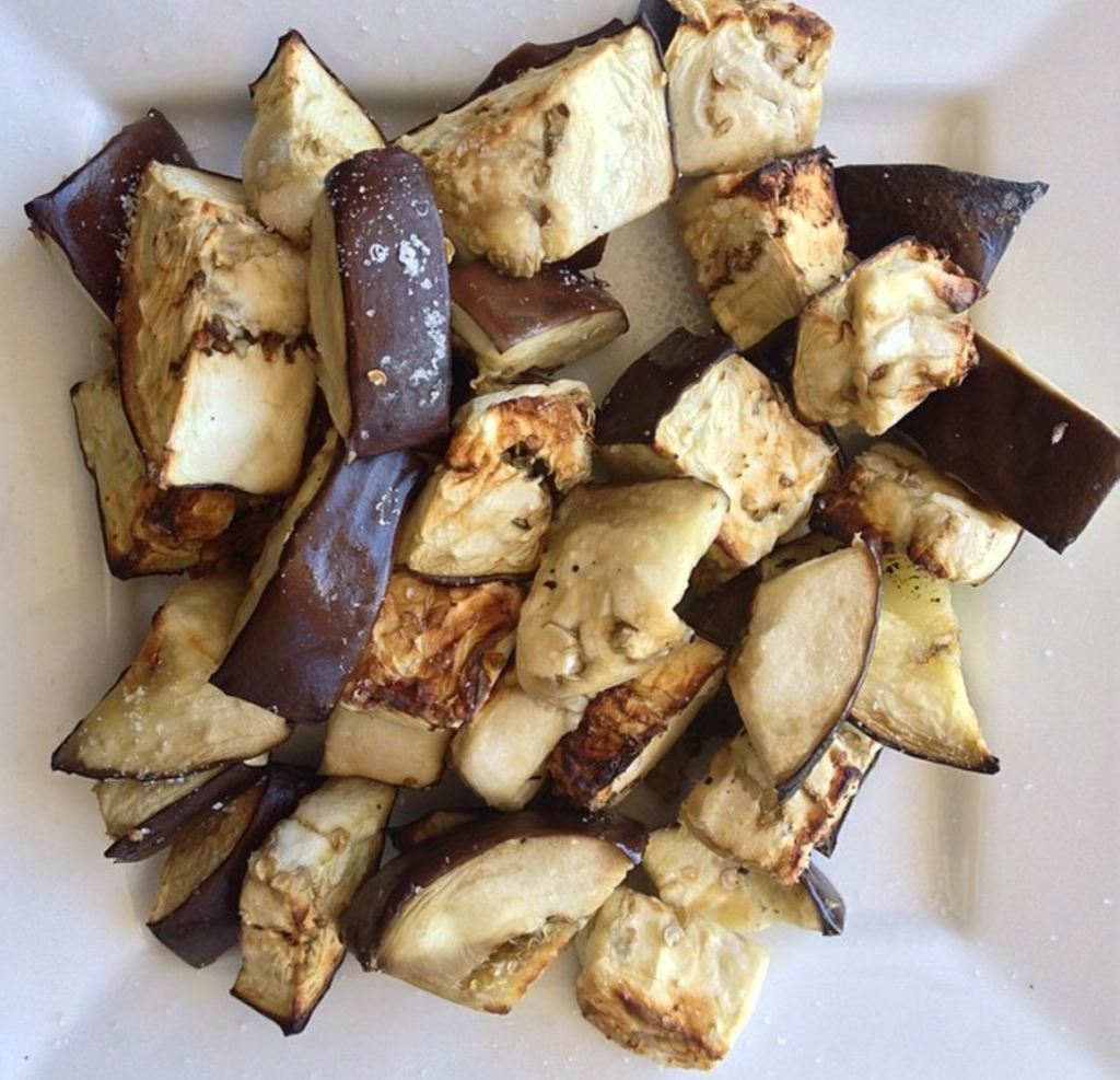 Roasted Eggplant Bites